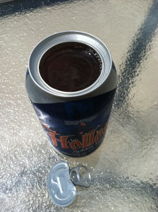 Here is the view of the 360 degree top exposing the beer within.