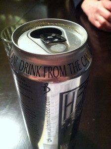 The can says to drink it from the can.